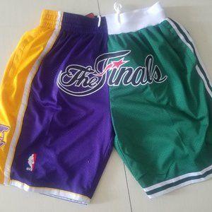 New Just Don Lakers & Celtics Basketball Shorts